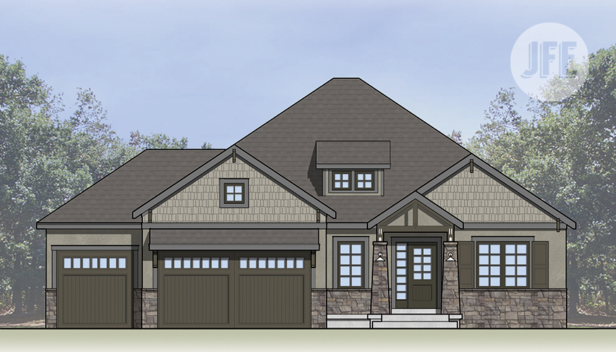 The Creekside_Front Elevation